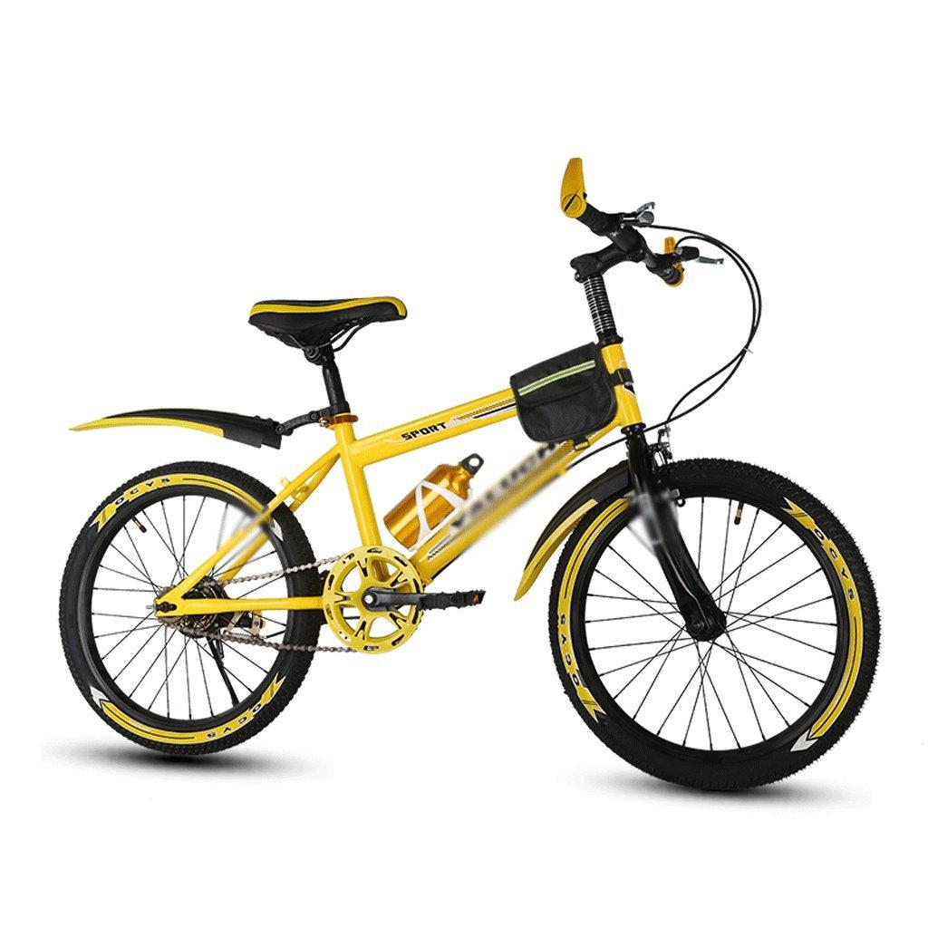 自転車 子供のマウンテンバイクイエロースピードシフトパッケージ18/20/22インチ男性と女性の小中学生 (サイズ さいず : 18 inch) B07DZSJPLD 18 inch 18 inch
