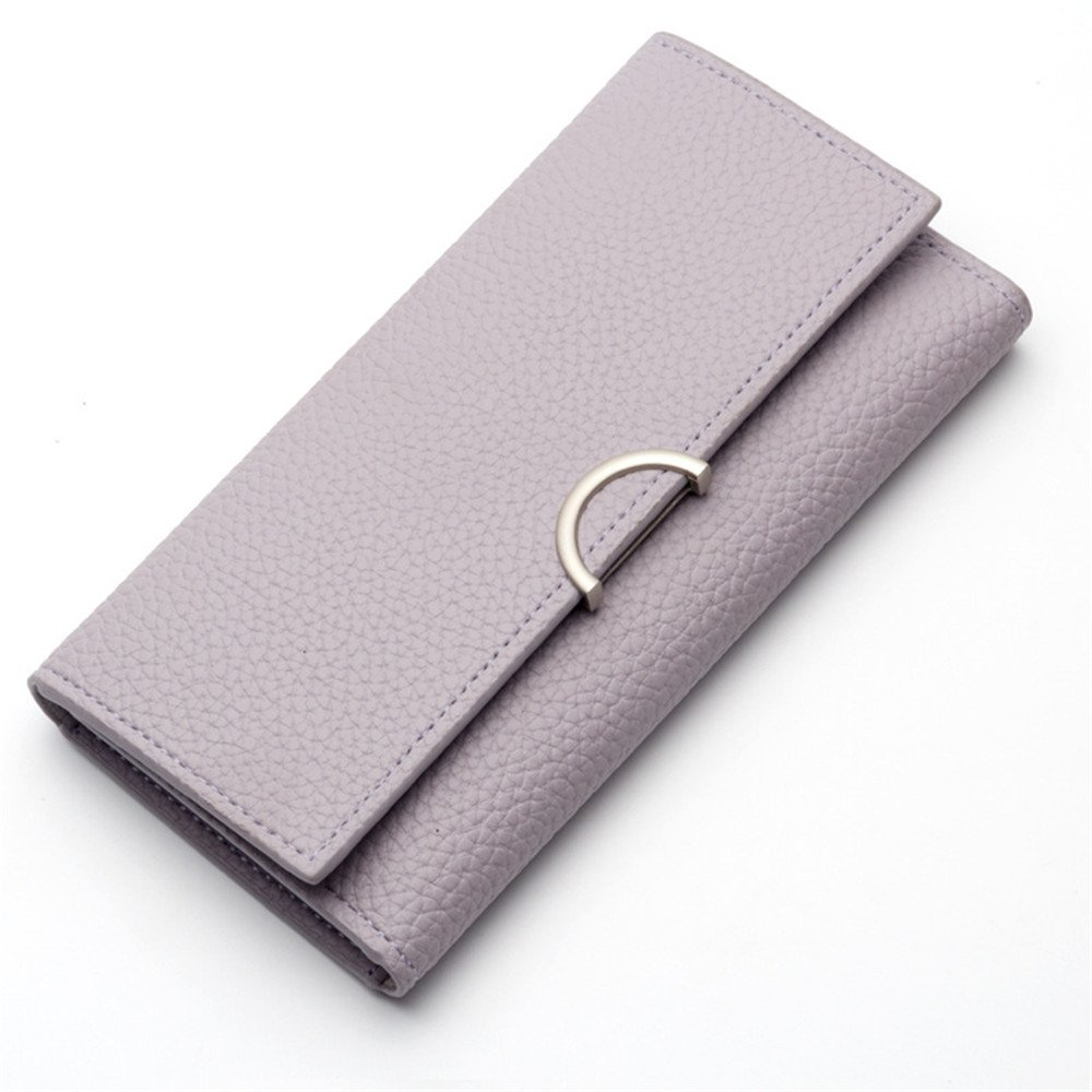 Women Large Travel Purse Long Blocking Wallet Handbag Soft PU Leather Trifold Document Multi Card Organizer by Mrsrui