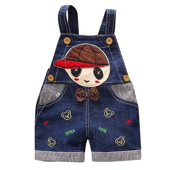 Pantalones Vaquero Cortos Para Bebes Niñas Niños Recién