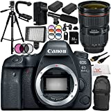 Canon EOS 6D Mark II DSLR Camera with Canon EF 24-70mm f/2.8L II USM Lens 16PC Accessory Bundle – Includes 32GB SD Memory Card + 2x Replacement Batteries + AC/DC Rapid Home & Travel Charger + MORE - International Version (No Warranty)