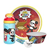 Zak Designs Ryan's World Dinnerware Set Includes