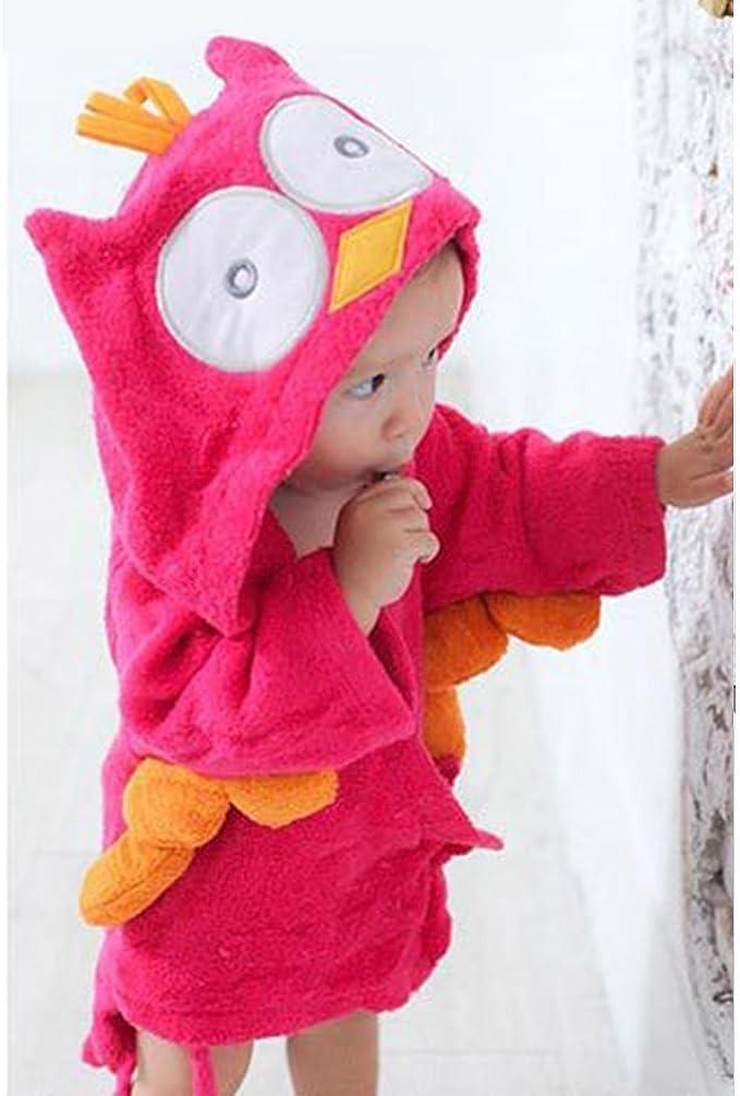 LIUONE Baby Boys Girls 0-3 Years Bath Towel Shark//Owl Design Bathrobe Cute Hooded Sleepwear