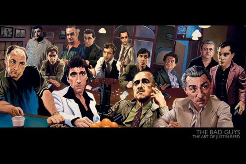 Pyramid America The Bad Guys The Art of Justin Reed Cool Wall Decor Art Print Poster for Guys 36x24