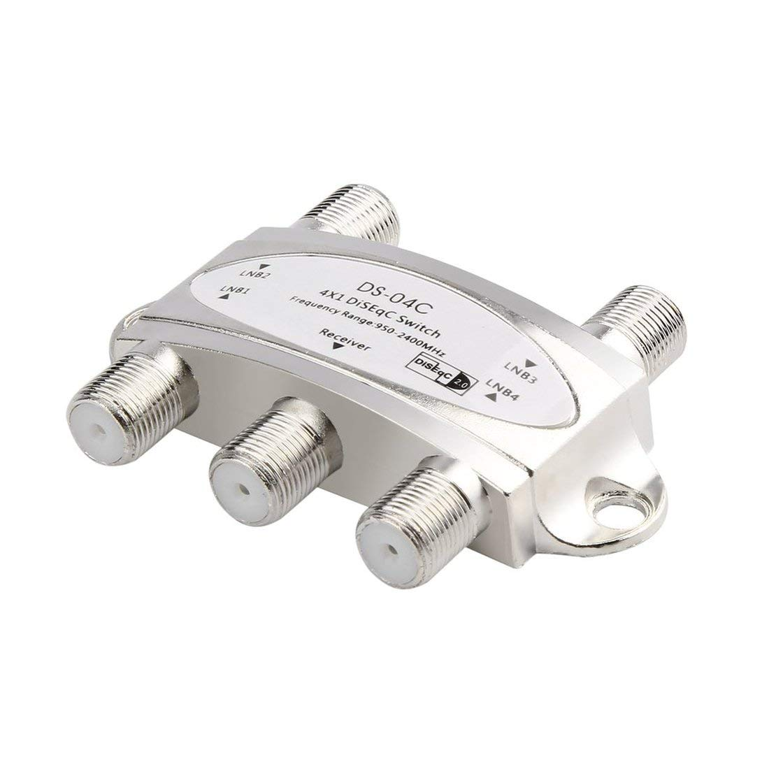 4 in 1 4 x 1 DiSEqc 4-Way Wideband Switch DS-04C High Isolation Connect 4 Satellite Dishes 4 LNB Satellite Receiver Formulaone