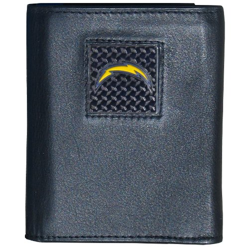 (NFL San Diego Chargers Gridiron Leather Tri-Fold Wallet )