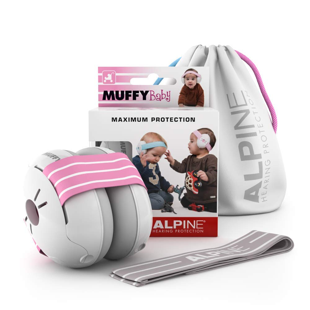Prevent Hearing Damage /& Improve Sleep Comfortable Infant Ear Protection Black Baby Ear Muffs Noise Protection for Babies and Toddlers up to 36 Months Alpine Muffy Baby Ear Protection
