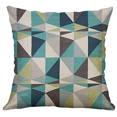 Geometric Decorative Throw Pillow Covers Square Cotton Linen Cushion Covers Outdoor Sofa Home Pillow Covers 50x50 cm: Toys & Games