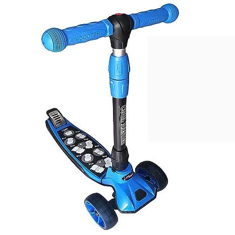 GK Scooter Plegable para Niños Pequeños, 4 Ruedas Mini ...