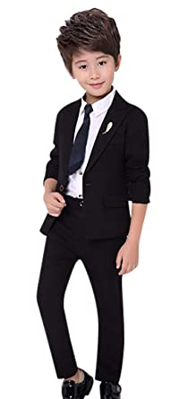 497b285be5203 Children 3 Pcs Suit Set Vintage British Style Formal Suit Set for Wedding  Party Classic Tuxedo
