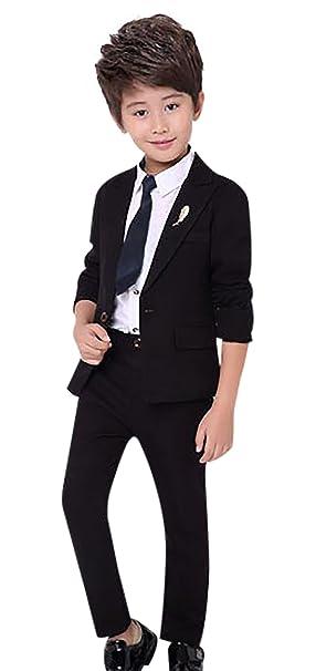 Amazon.com: Boy s 3 pcs sólido esmoquin traje con chamarra ...