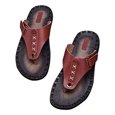 82bbc130c1e Flip Flops HUYP Summer Slippers Men s Outdoor Slip Flippers Beach Shoes  Men s Soft Sandals (Size   40)  Amazon.co.uk  Kitchen   Home