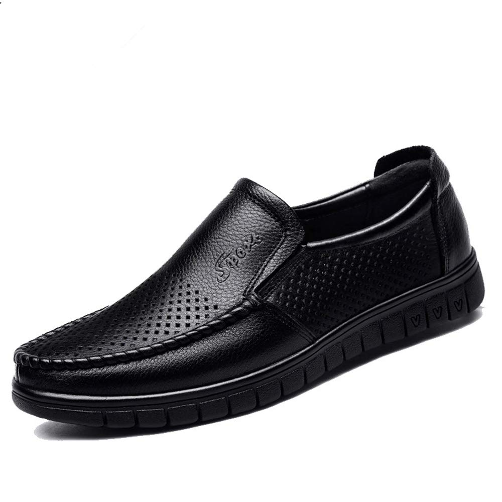 edv0d2v266 Men's Leather Loafers Shoes Mens Dress Shoes(Black 43/9 D(M) US Men) by edv0d2v266