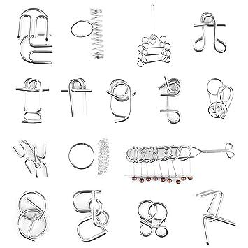 Rompecabezas Metal Fokom 16pack Puzzles 3d Juegos De Ingenio
