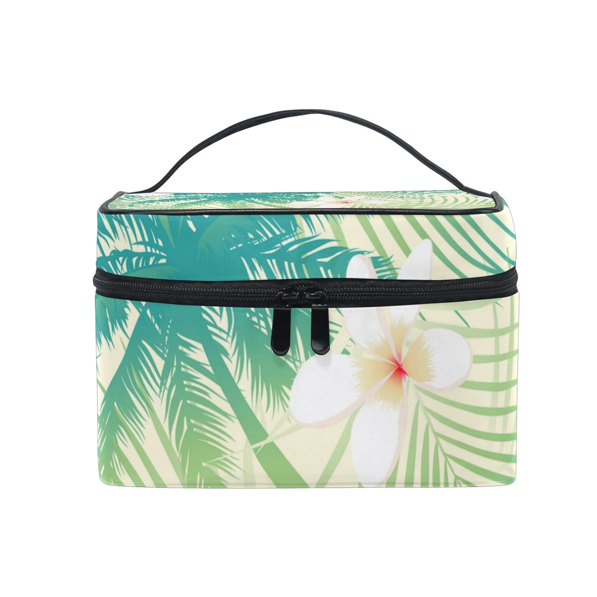 Cosmetic Case Bag Tropical Palm Tree Leaf Portable Travel Makeup Bag Toiletry Organizer