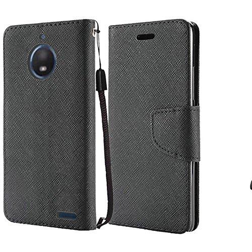 Motorola Pink Keyboard - Motorola Moto E4 Case, Luckiefind Premium PU Leather Flip Wallet Credit Card Cover Case, Stylus Pen, Screen Protector Accessories (Wallet Blcak)