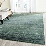 Safavieh Mystique Collection MYS920G Vintage Watercolor Overdyed Green and Multi Distressed Area Rug (5' x 8')