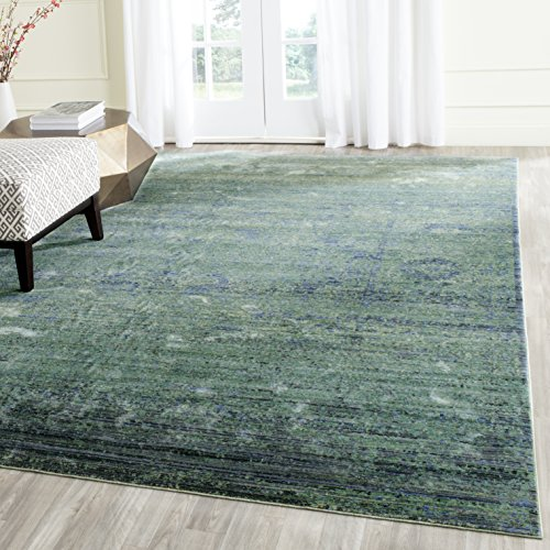 Safavieh Mystique Collection MYS920G Vintage Watercolor Overdyed Green and Multi Distressed Area Rug (5' x 8') by Safavieh