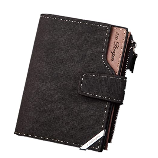9b853b360a57 Passport Wallet For Men - Safe Vintage Pu Wallet Bifold Id Holder Clearance  (Black)