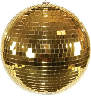Huge 16 Inch Gold Reflection Mirror Disco Party Ball