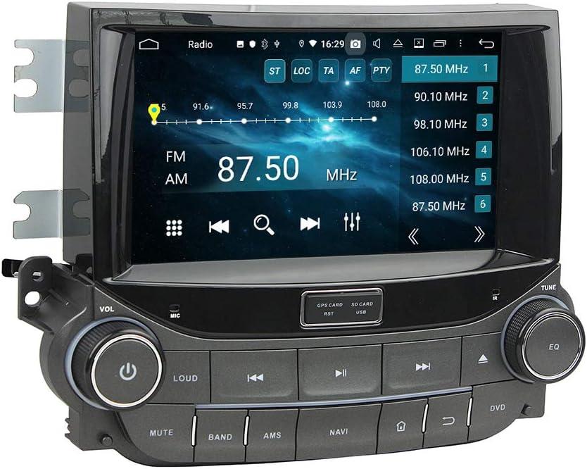 ZERTRAN Android 9.0 Core PX5 4G RAM 64GB ROM Autoradio GPS Navigation Reproductor Multimedia Car Stereo Control de Volante de Unidad Principal de Radio por Chevrolet Malibu 2015