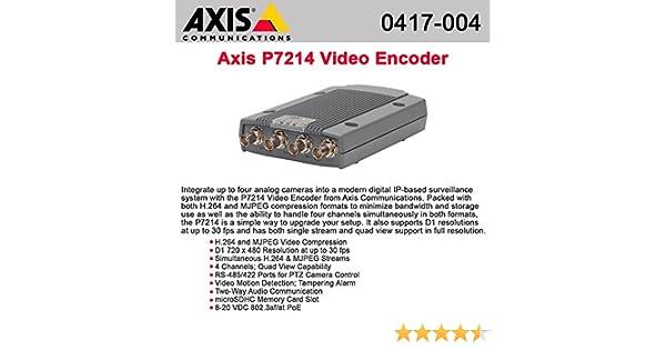 Hardware Encoder Axis P7214 Video Server Video Server