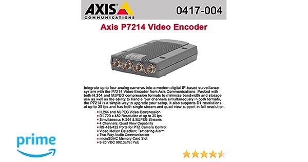 Amazoncom AXIS P7214 Video Encoder video server 4 channels 0417004 Video Converters Camera Photo