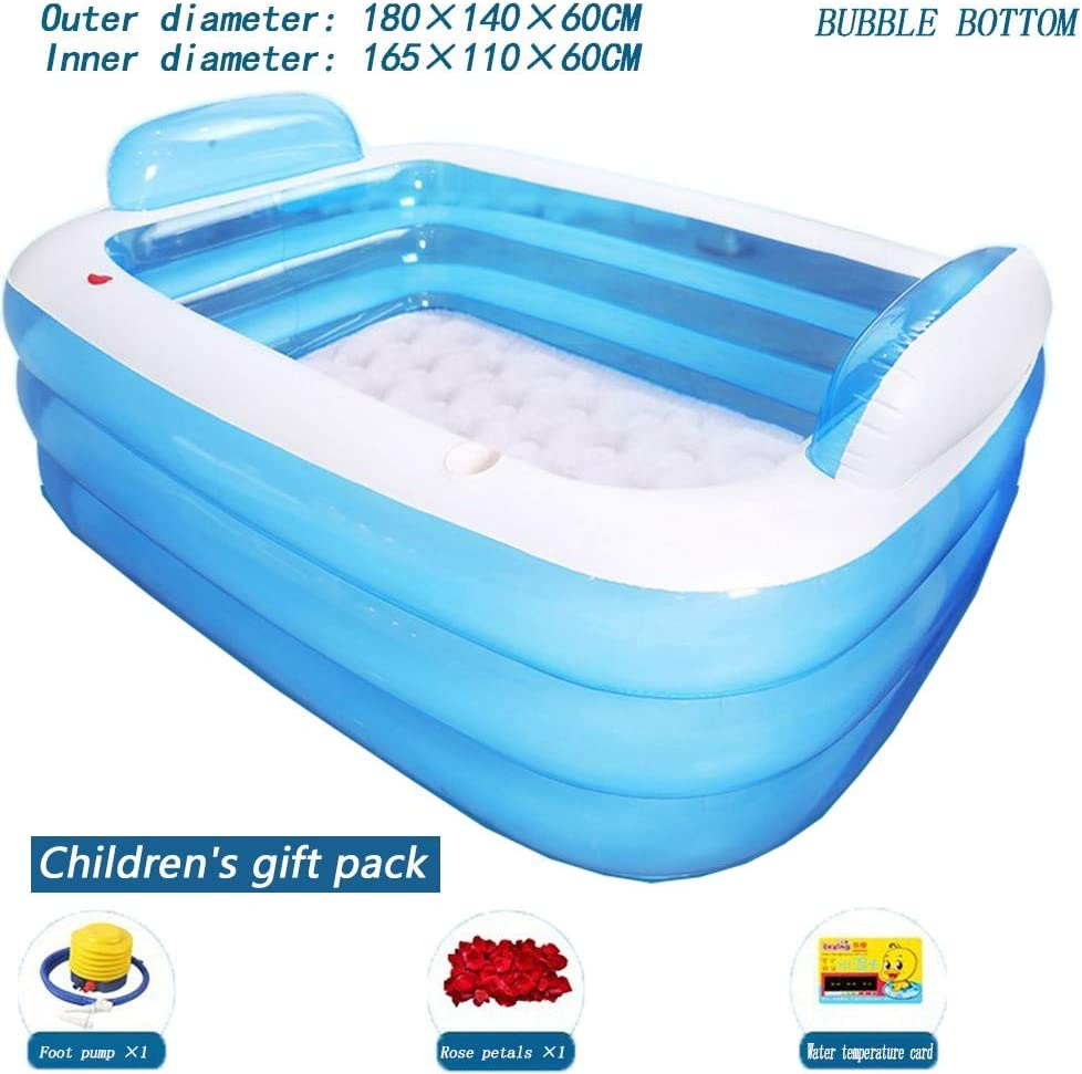 SDYBYG Plegable bañera de Barril del baño de Tina de baño de Adultos Inflable, bañera Cubo de plástico Grueso, para niños Bañera para baño Piscina