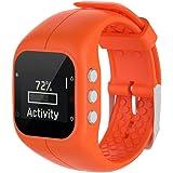 KOBWA Polar A300Smart Watch, Cinturino di Ricambio in Silicone Watch Band Sport Cinghia per Polar A300Fitness Watch, Orange