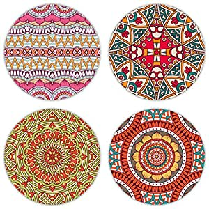 Coastero absorbent stone drink coasters bohemia set of 4 coasters - Drink coasters absorbent ...