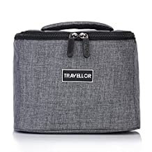 Travellor Premium Lunch Cooler Box, Small Insulated Lunch Bag, Perfect For Adults, Men, Women and Teens - Samll Size 8.7Lx4.7Wx6.7H Inches(Gray)