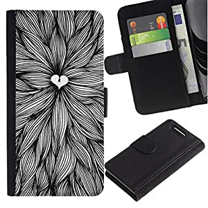 Stuss Case / Funda Carcasa PU de Cuero - Amantes de la naturaleza Art Pen Hojas Tinta - Sony Xperia Z3 Compact