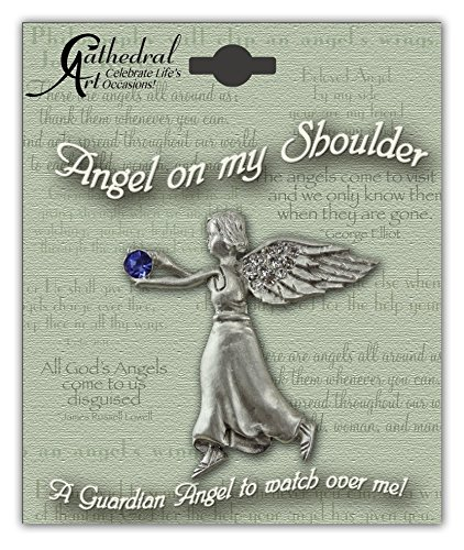 Cathedral Art BA309 September Sapphire Birthstone Angel Pin, 1-1/2-Inch