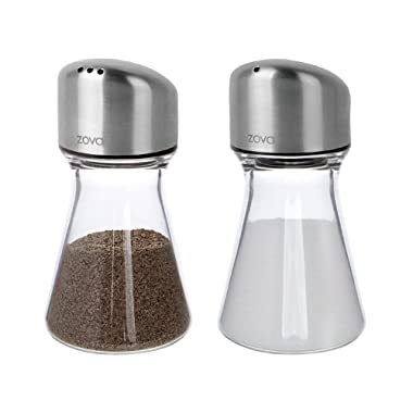 zova Salt & Pepper Shaker Set - Stainless lid, 120ml
