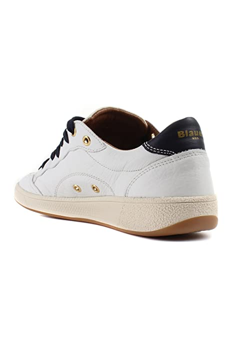 Blauer Herren Sneaker Low Murray 01 Leder Weiß  Amazon.de  Schuhe    Handtaschen 4752acb910