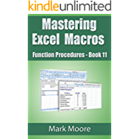 Mastering Excel Macros - Function Procedures (Book 11)