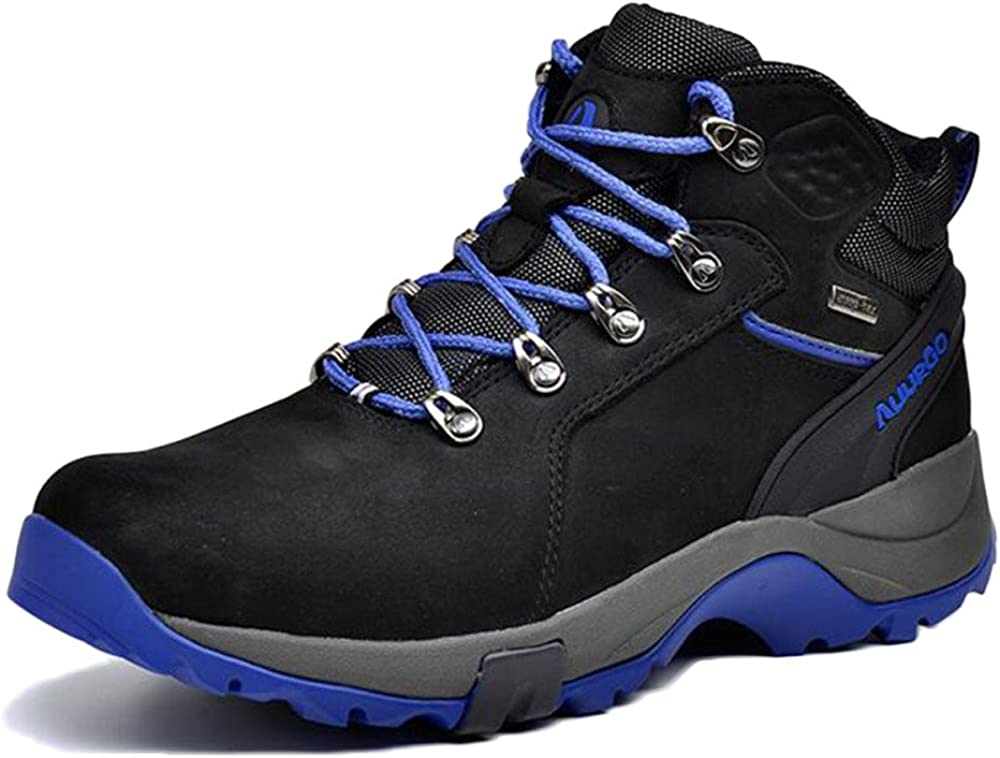 Botas De Montaña Altas para Hombre Botas De Trekking Professional La Primera Capa De Zapatos Exteriores De Cuero Impermeables Botas De Nieve Cálidas: Amazon.es: Zapatos y complementos