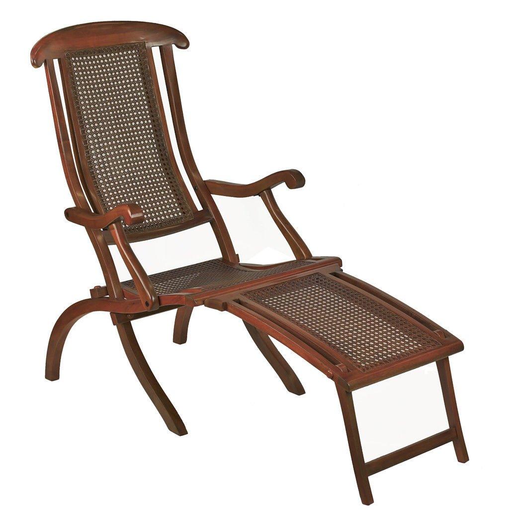Amazon.com: Francés Line Deck Lounge Silla plegable madera ...