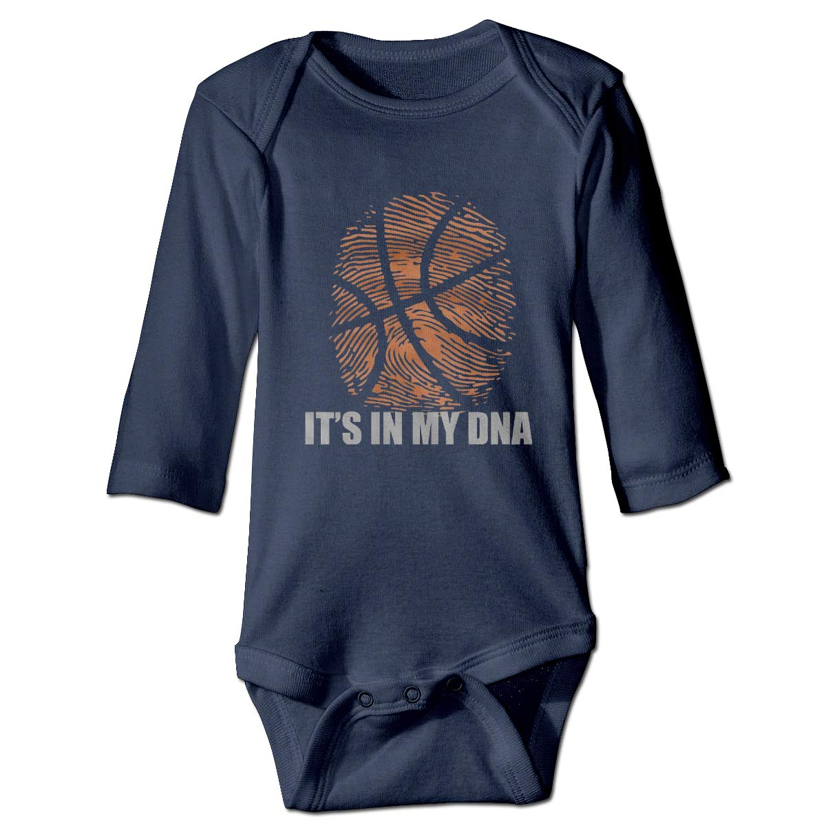 Basketball Its in My DNA Baby Long Sleeve Onesies Cotton Romper Bodysuit Creeper