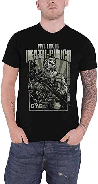 Official Five Finger Death Punch FFDP Sniper Band T-Shirt