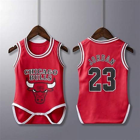 lkjhgfd Body De Mameluco para Bebés De Los Chicago Bulls 23# Michael Jordan Camisetas De Baloncesto Sueltas Sin Mangas para Niños Niñas De 6 A 30 Meses: Amazon.es: Deportes y aire libre