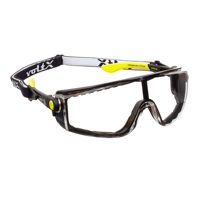 voltX 'Quad' 4 in 1 - Lectura Segura Gafas de Seguridad - Transparente - con inserci—n de Espuma y Diadema - certificaci—n CE EN166f