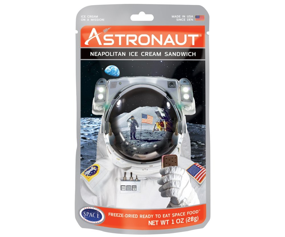 Neapolitan Astronaut Ice Cream Sandwich (15 Packages)