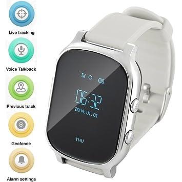 WINNES GPS Tracker Relojes OLED Pantalla Smart Watch Teléfono para ...