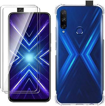 HYMY Funda para Honor 9X Smartphone + 2 x Cristal Templado: Amazon ...