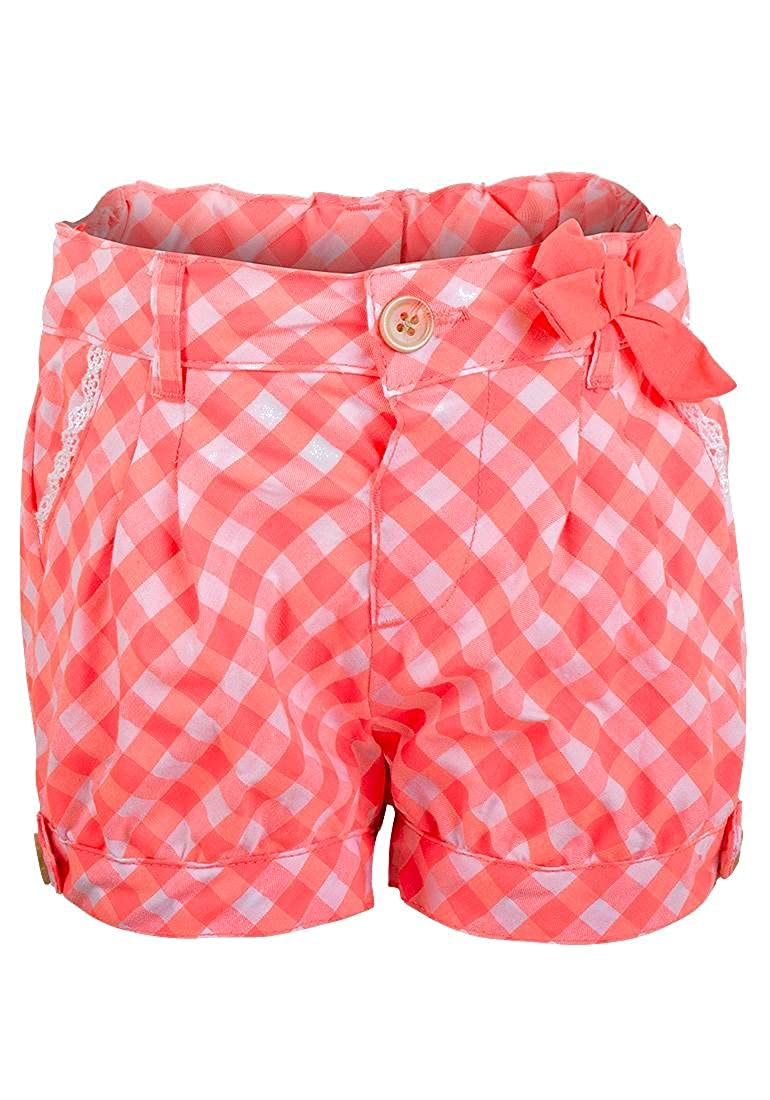 Lily & Lola Baby & Toddler Girls Pretty Salmon Pink & White Checked Shorts