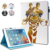 New iPad 9.7 2017 Case - MonsDirect Smart PU Leather Case Flip Wallet Case Cover with Kickstand Magnet Protective Case for New iPad 9.7 2017-05 Deer