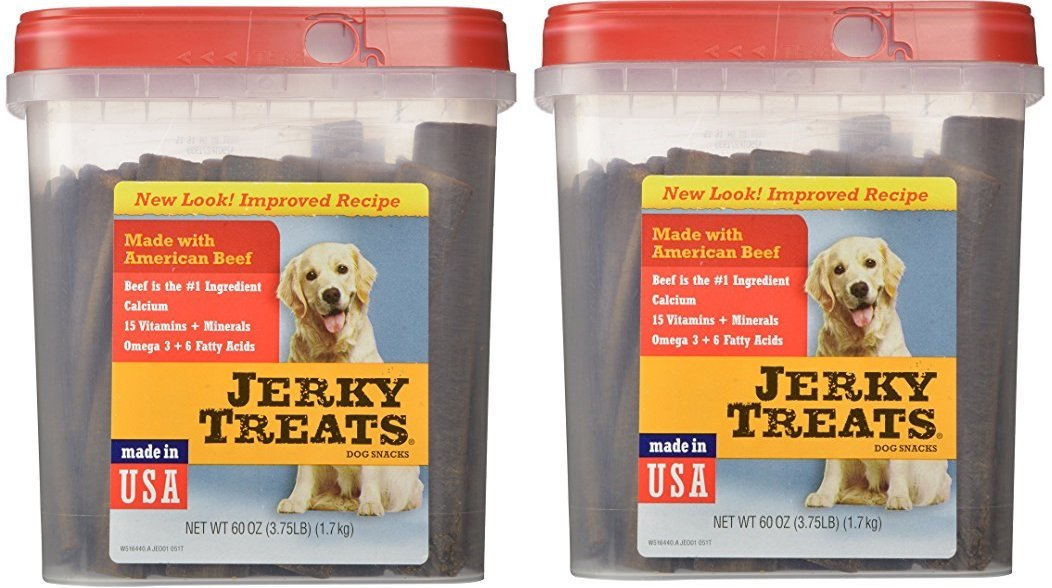 Jerky Treats Tender Beef Strips Dog Snacks, 60 oz, Large (2 Pack)