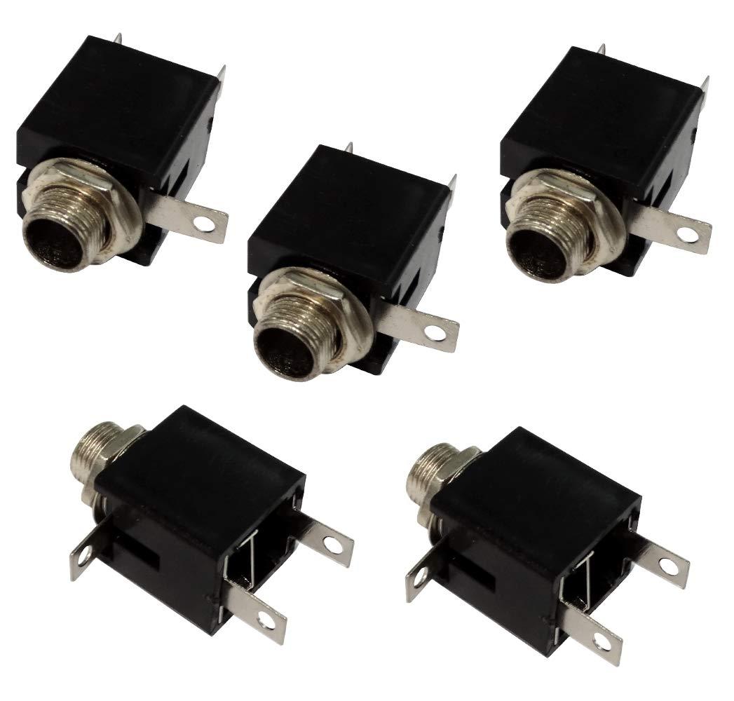 Set di 5 presa jack da pannello 6,3 mm stereo. Aerzetix