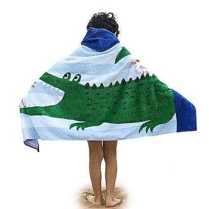 Amkun - Toalla de playa con capucha en forma de poncho grande para la playa,