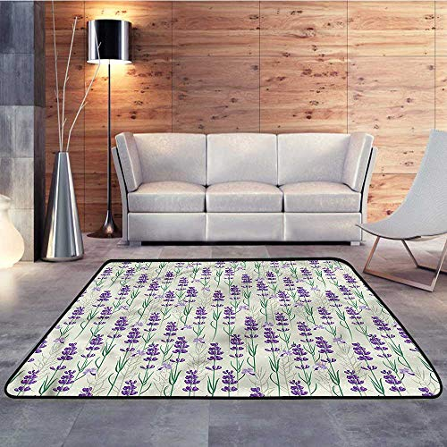 Carpet Flooring,Lavender,Fresh Herbs BotanicalW 59